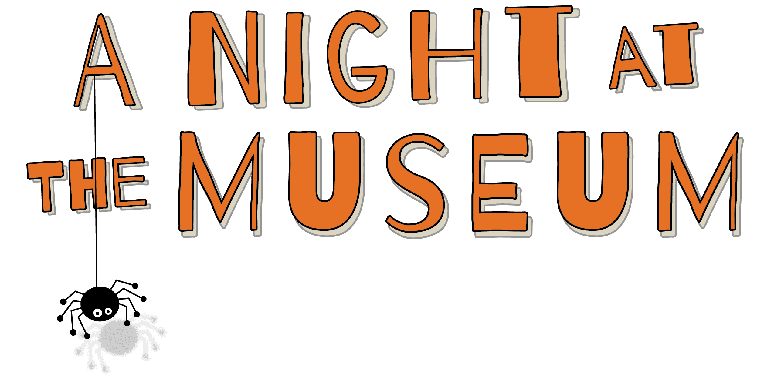 Tampa Bay History Center, Night at the Museum logo with spider